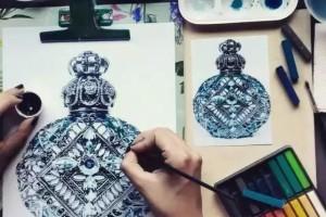 超写实珠宝手绘设计原创手稿集鉴赏